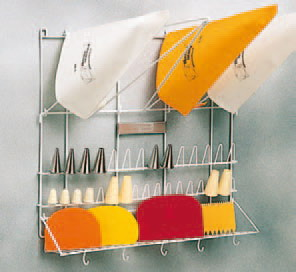 Piping Bag and Piping Tip Wall Rack